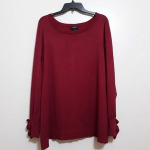 Lane Bryant sweater cranberry sz 22/24